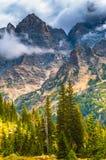 Cascade Canyon - Grand Teton National Park. Dramatic Sky over Beautiful Cascade Canyon - Grand Tetons stock images