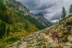 Cascade Canyon - Grand Teton National Park Stock Photos