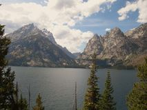 Cascade Canyon and Jenny Lake. The picture of Cascade Canyon and Lake Jenny taken in Grand Teton National Park Royalty Free Stock Photos