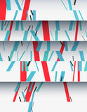 Cascade of cardboard sheets. Cascade of realistic cardboard sheets with mixed diagonal sticks. Colorful background illustration. Vertical template for a poster Stock Image