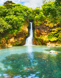 Cascade Chamouze waterfall. Mauritius Stock Photography