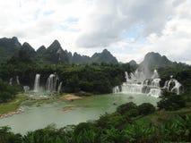 Cascade Chine de Detian Photographie stock