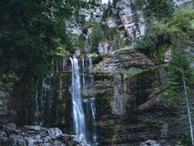Cascade d`Isere in France royalty free stock photography