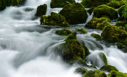 Cascade, Clear, Water Royalty Free Stock Images