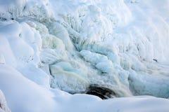 Cascade congelée Tannforsen en hiver, Suède photo stock
