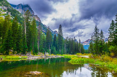 Cascade Creek - Grand Teton National Park Stock Photography