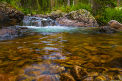 Cascade Creek Grand Tetons Stock Photo