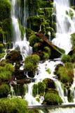Cascade à écriture ligne par ligne d'Iguacu Photographie stock libre de droits