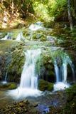 cascade à écriture ligne par ligne de forêt Photographie stock