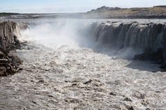 Cascade à écriture ligne par ligne de Selfoss, Islande Images libres de droits