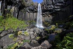 Cascade à écriture ligne par ligne en Islande Image stock