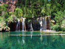 Cascade à écriture ligne par ligne - le Colorado - les Etats-Unis Photos libres de droits