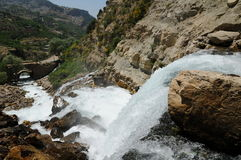 Cascade d'Afqa, Liban Photo stock