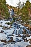 Cascade d'Argualas dans l'Espagnol Pyrénées Images libres de droits