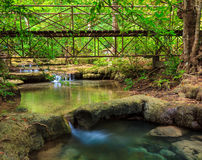 Cascade d'Erawan, Kanchanaburi, Thaïlande images libres de droits