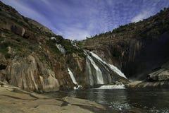 Cascade d'Ezaro, Galicie Photo libre de droits