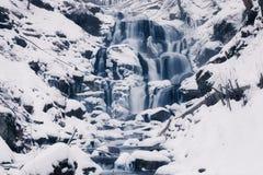 Cascade d'hiver Image libre de droits