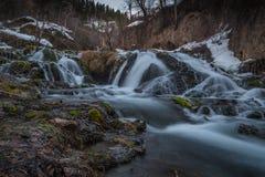 Cascade d'hiver photos libres de droits