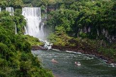 Cascade d'Iguazu au Brésil Image libre de droits