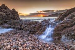 Cascade d'océan chez Rotherslade Photo libre de droits