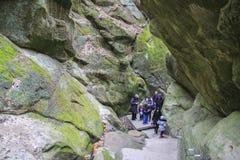 Cascade dans Goryachiy Klyuch Image libre de droits