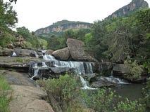 Cascade dans le Drakensberg, Afrique du Sud Photos stock