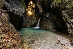 Cascade dans Ledro Photographie stock libre de droits