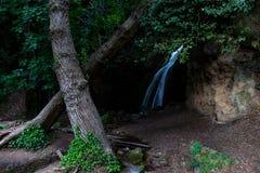 Cascade dans les bois en Pale Umbria, Italie image libre de droits