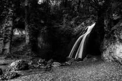 Cascade dans les bois en Pale Umbria, Italie photos libres de droits