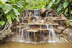 Cascade dans une forêt tropicale de Costa Rica Photographie stock