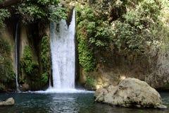 Cascade de Banias, Israël Photos libres de droits