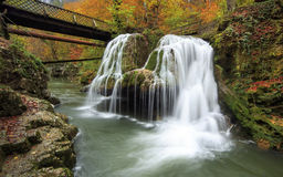 Cascade de Bigar, Roumanie Photo stock