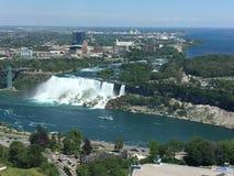 Cascade de chutes d'Américain de chutes du Niagara Photos libres de droits