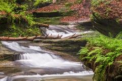 Cascade de collines de Hocking Photographie stock
