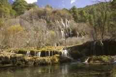 Cascade de Cuervo, Cuenca, Espagne Photographie stock libre de droits