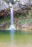 Cascade de Drimonas, Euboea, Grèce Photographie stock