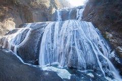 Cascade de glace en quelques automnes de Fukuroda de saison d'hiver Images libres de droits