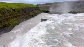 Cascade de Godafoss en Islande, l'Europe banque de vidéos