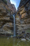 Cascade de Gollorio, Guadalajara, Espagne Image libre de droits