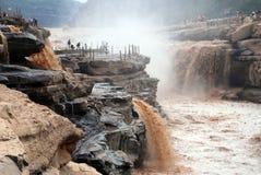 Cascade de Hukou de la rivière Yellow Image libre de droits