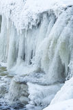 Cascade de Jagala en hiver Images libres de droits