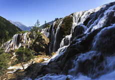 Cascade de Jiuzhaigou Photos libres de droits