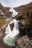 Cascade de Kjosfossen, Aurland, Norvège Photos stock