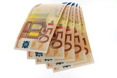 cascade de l'euro 50 Photographie stock