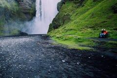 Cascade de l'Islande photo libre de droits
