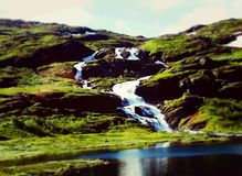 Cascade de la Norvège photo libre de droits