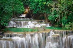 Cascade de la Thaïlande dans Kanchanaburi Image libre de droits