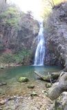 Cascade de la Vescagnes. French jungle waterfall Royalty Free Stock Photo