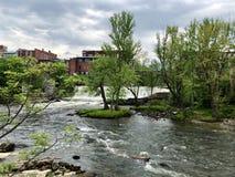 Cascade de Middlebury Vermont Photos stock