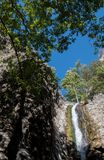 Cascade de Millomery, montagnes Chypre de Troodos Photos libres de droits